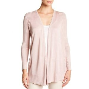 Philosophy Tops - Philosophy Ribbed Trimmed Caradigan blush pink XL